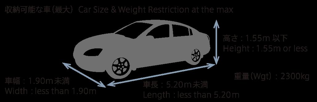 収納可能な車(最大)