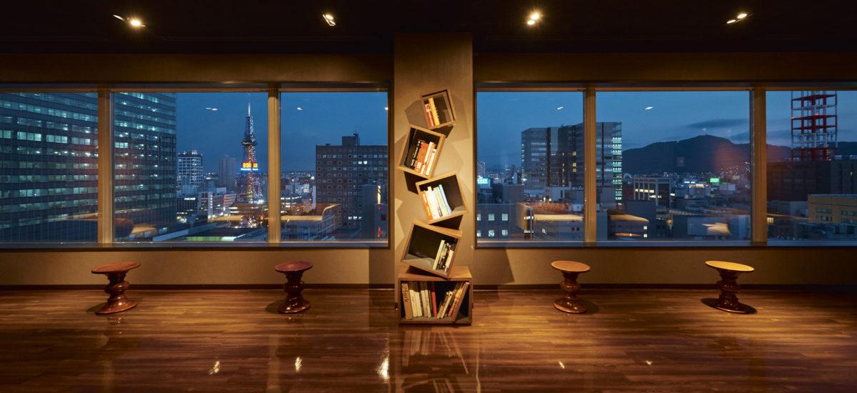 札幌夜景を一望できる最上階ラウンジ